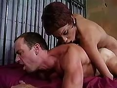 Blond tranny spoils straight couple