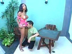 Outrageously hot shemale pounding guy�s tight asshole to the best advantage