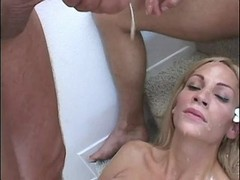 Tranny gets fucking n cum from guys