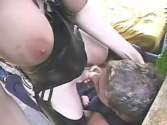 Ethnic shemale fucks in doggy style