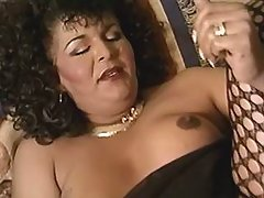 Amazing Tgirl in fuck and blow orgy