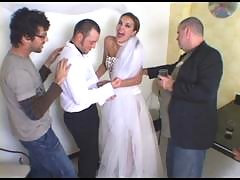 Smashing looking shemale bride massaging guy's butthole in every which way