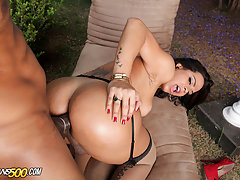 Watch the beautiful TS Alessandra Ribeiro take in some hardcore dick in her tight tranny ass!